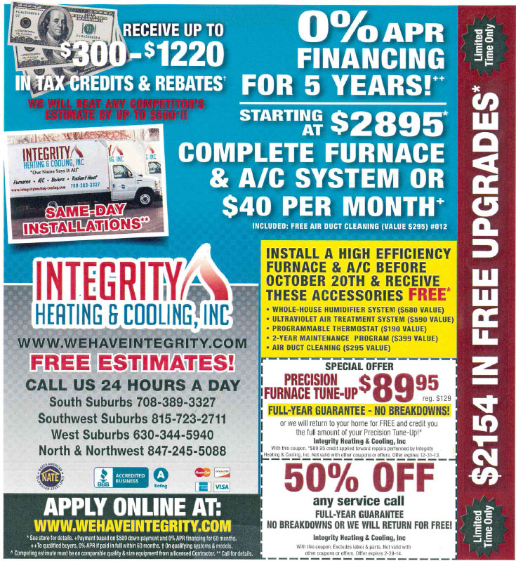 Discount heating and cooling coupons